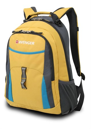 рюкзак , желтый/голубой/серый, полиэстер 600D/хонейкомб, 32x15x45 см, 22 л / Wenger - фото 5938