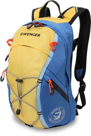 рюкзак , жёлтый/синий, полиэстер, 24x15x39 см, 14 л / Wenger - фото 5941