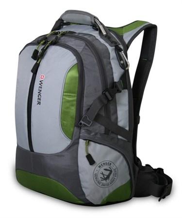 рюкзак , зелёный/серый, полиэстер 1200D, 36х17х50 см, 30 л / Wenger - фото 5943