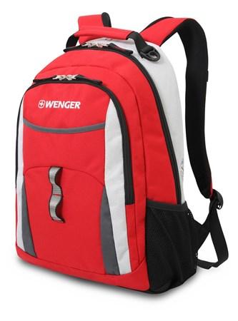 рюкзак , красный/серый/серебристый, полиэстер 600D/хонейкомб, 32x15x45 см, 22 л / Wenger - фото 5947