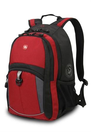 рюкзак , красный/черный/серый, полиэстер 600D/2 мм рипстоп/фьюжн, 33x15x45 см, 22 л / Wenger - фото 5952