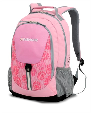 рюкзак , розовый/серый, полиэстер 600D, 32х14х45 см, 20 л / Wenger - фото 5958