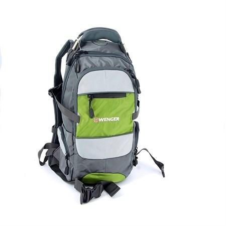 Рюкзак , серый/зеленый/серебристый, полиэстер 1200D PU, 23х18х47 см, 22 л / Wenger - фото 5971