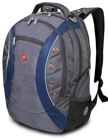 рюкзак , серый/синий, полиэстер 900D, 36х21х47 см, 35 л / Wenger - фото 5975