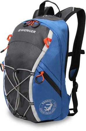 рюкзак , серый/синий, полиэстер, 24x15x39 см, 14 л / Wenger - фото 5979