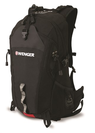 рюкзак , серый/черный, полиэстер, 29х19х52 см, 28 л / Wenger - фото 5982