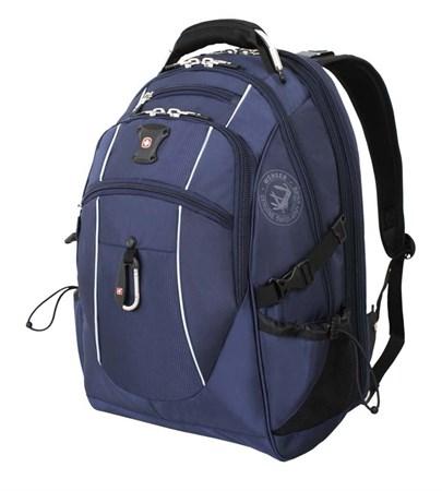 рюкзак , синий/серебристый, полиэстер 900D/М2 добби, 34x23x48 см, 38 л / Wenger - фото 5984