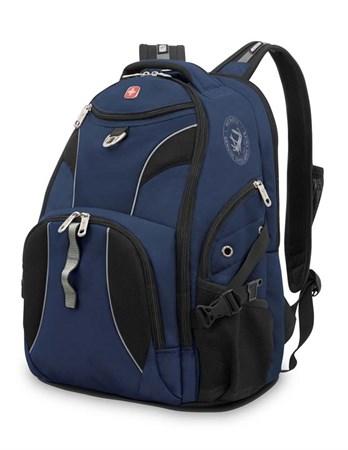 рюкзак , синий/черный, полиэстер 900D/М2 добби, 34x17x47 см, 26 л / Wenger - фото 5995