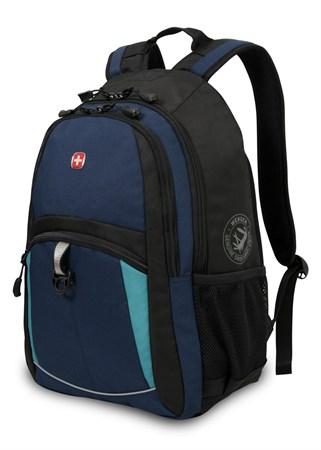 рюкзак , синий/черный/бирюзовый, полиэстер 600D/2 мм рипстоп/фьюжн, 33x15x45 см, 22 л / Wenger - фото 5997