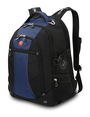 рюкзак , синий/чёрный, полиэстер 900D/рипстоп, 36x19x47 см, 32 л / Wenger - фото 6005