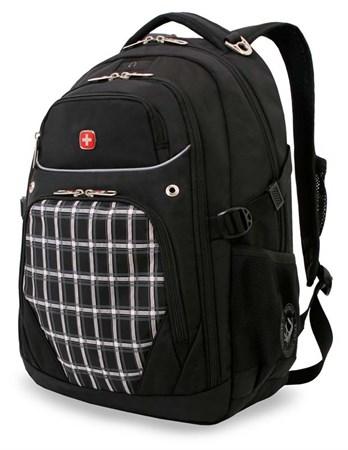 рюкзак , черный с рисунком в клетку, полиэстер 900D, 33x20x47 см, 32 л / Wenger - фото 6014
