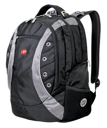 рюкзак , черный/серый, полиэстер 900D, 36х21х47 см, 35 л / Wenger - фото 6031