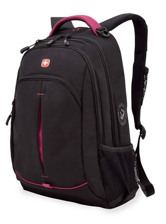 рюкзак , черный/фукси, фьюжн/2 мм рипстоп, 32x15x46 см, 22 л / Wenger - фото 6039