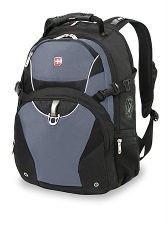 рюкзак , чёрный, синий, 2 отделения, карман-органайзер, полиэстер, 36х19х47, 32 л / Wenger - фото 6046