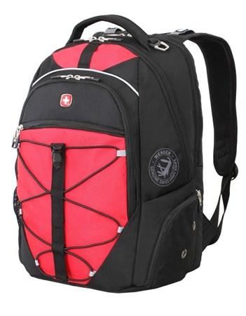рюкзак , чёрный/красный, полиэстер 900D/М2 добби, 34x19x46 см, 30 л / Wenger - фото 6057
