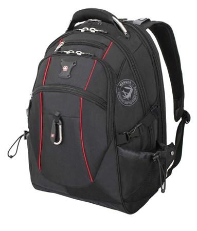 рюкзак , чёрный/красный, полиэстер 900D/М2 добби, 34x23x48 см, 38 л / Wenger - фото 6059