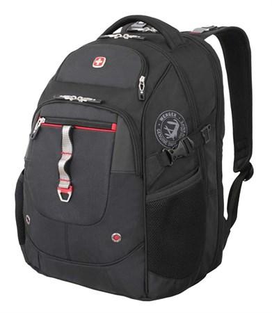 рюкзак , чёрный/красный, полиэстер 900D/М2 добби/искуственная кожа, 34x22x46 см, 34 л / Wenger - фото 6061