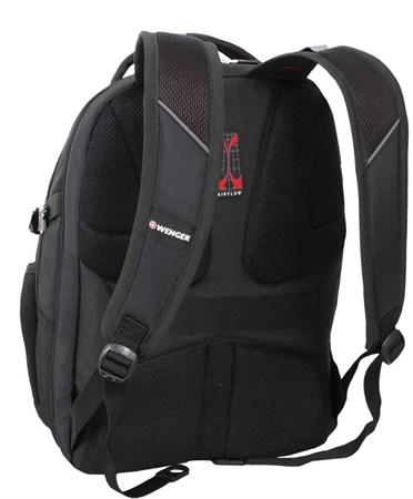 рюкзак , чёрный/красный, полиэстер 900D/М2 добби/искуственная кожа, 34x22x46 см, 34 л / Wenger - фото 6062