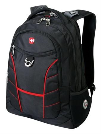 рюкзак , чёрный/красный, полиэстер, 35х20х47 см, 33 л / Wenger - фото 6063