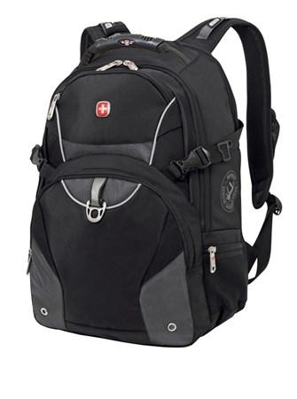 рюкзак , чёрный/серый, 2 отделения, карман-органайзер, полиэстер, 36х19х47, 32 л / Wenger - фото 6074