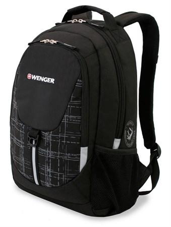 рюкзак , чёрный/серый, полиэстер 600D/М2 добби, 32x14x45 см, 20 л / Wenger - фото 6078