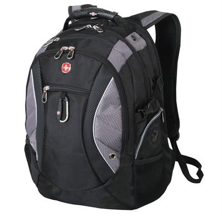рюкзак , чёрный/серый, полиэстер 900D, 35х23х48 см, 39 л / Wenger - фото 6081