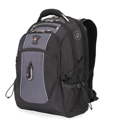 рюкзак , чёрный/серый, полиэстер 900D/420D/М2 добби, 34x23x48 см, 38 л / Wenger - фото 6085