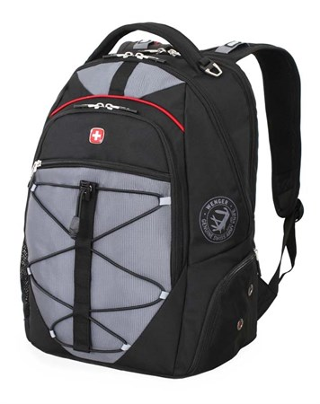 рюкзак , чёрный/серый, полиэстер 900D/М2 добби, 34x19x46 см, 30 л / Wenger - фото 6086