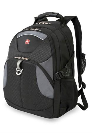 рюкзак , чёрный/серый, полиэстер, 34х17х47, 26 л / Wenger - фото 6088