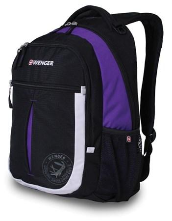 рюкзак , чёрный/фиолетовый/серебристый, полиэстер 600D, 32х15х45 см, 22 л / Wenger - фото 6094