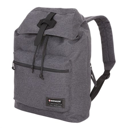 Рюкзак WENGER 13'', cерый, ткань Grey Heather/ полиэстер 600D PU , 29х13х40 см, 15 л - фото 6171