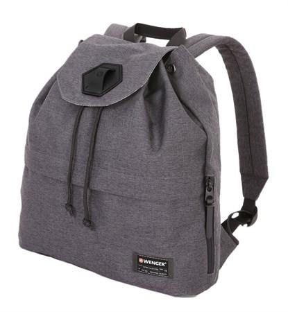 Рюкзак WENGER 13'', cерый, ткань Grey Heather/ полиэстер 600D PU , 33х13х39 см, 16 л - фото 6175