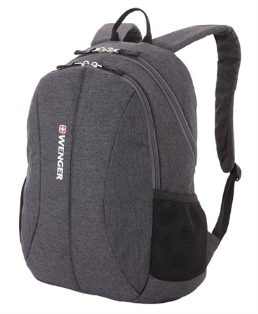 Рюкзак WENGER 13'', cерый, ткань Grey Heather/ полиэстер 600D PU , 33х16х45 см, 23 л - фото 6176