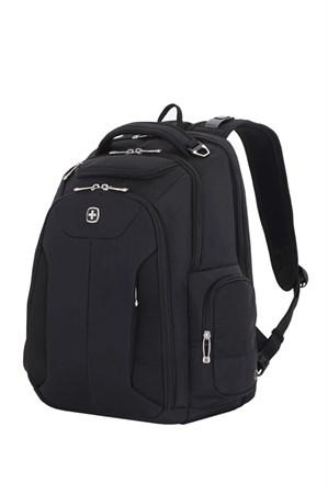 Рюкзак WENGER 17'', бизнес/чёрный, полиэстер 900D/рипстоп, 30,5x17,8x45,7 см, 31л - фото 6186
