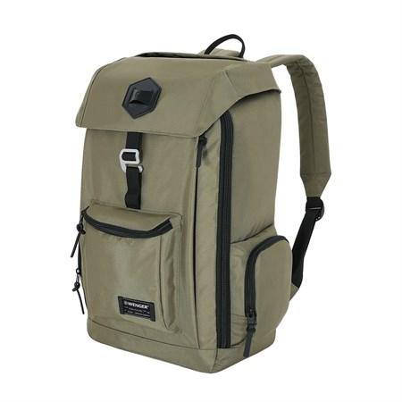 Рюкзак WENGER 18'', оливковый, полиэстер 900D, 28x17,8x45,7 см, 22 л - фото 6187