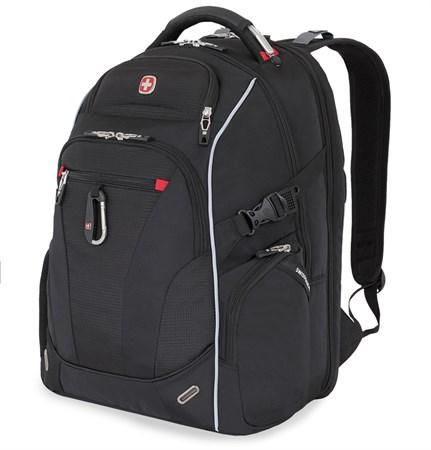 """Рюкзак WENGER, Scansmart 15"""", чёрный/красный, полиэстер 900D/добби, 34x22x46 см, 34 л - фото 6197"""