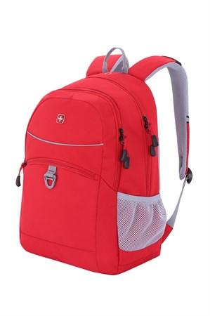 Рюкзак WENGER, красный/серый, полиэстер 600D/хонейкомб, 33x16,5x46 см, 26л - фото 6198