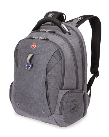 Рюкзак WENGER, серый, ткань Grey Heather/полиэстер 900D PU , 47х34х20, 31л - фото 6202