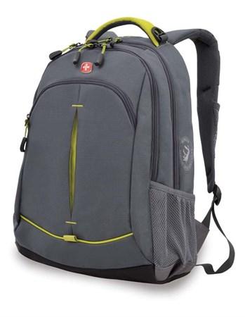 Рюкзак WENGER, серый/лаймовый, фьюжн/2 мм рипстоп, 32x15x46 см, 22 л - фото 6208