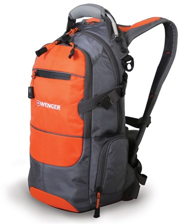 Рюкзак WENGER, серый/оранжевый/серебристый, полиэстер 1200D PU, 23х18х47 см, 22 л - фото 6209