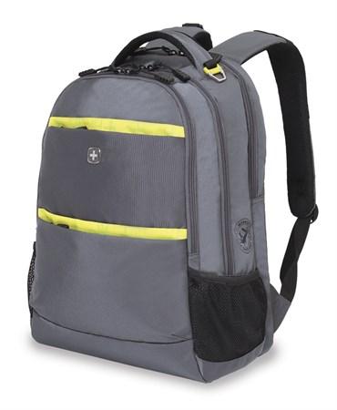 Рюкзак WENGER, серый/салатовый ,полиэстер 900D, 46х33х19 см, 28 л - фото 6210