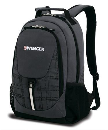 Рюкзак WENGER, серый/чёрный, полиэстер 600D, 32х14х45 см, 20 л - фото 6213