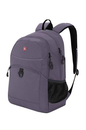 Рюкзак WENGER, серый/чёрный, полиэстер 600D/хонейкомб, 33x16,5x46 см, 26 л - фото 6214