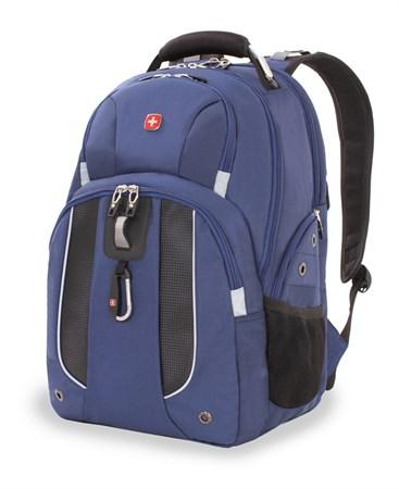 Рюкзак WENGER, синий, полиэстер 900D, 47х34х16,5 см, 26 литров - фото 6215