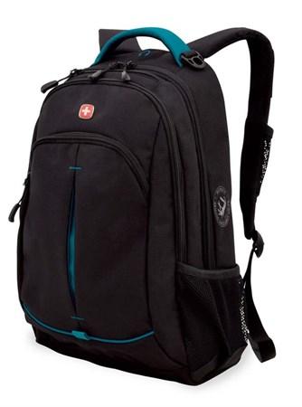 Рюкзак WENGER, черный/бирюзовый, фьюжн/2 мм рипстоп, 32x15x46 см, 22 л - фото 6228