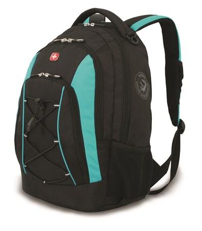 Рюкзак WENGER, черный/синий, полиэстер, 33х19х45 см, 28 л - фото 6229