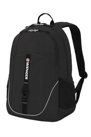 Рюкзак WENGER, чёрный, полиэстер 600D, 33x16,5x46 см, 26л - фото 6230