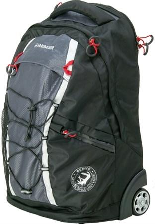 рюкзак на колёсах , чёрный/серый, полиэстер 900D, 33х21х50 см, 35 л / Wenger - фото 6231