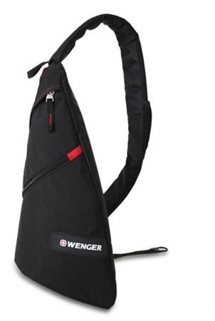 рюкзак с одним плечевым ремнем, черный/красный, 25x15x45 см, 17 л / Wenger - фото 6236