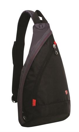 рюкзак с одним плечевым ремнем, черный/синий, 25x15x45 см, 17 л / Wenger - фото 6240